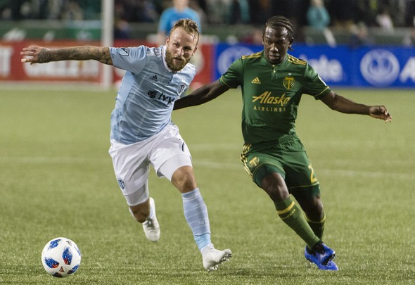 Russell in MLS action for Kansas